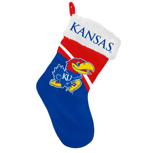 Forever Collectibles NCAA Kansas Jayhawks Swoop Logo Stocking