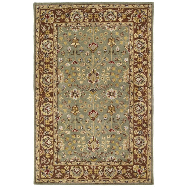 Anabelle Olive Greenl Hand-tufted Wool Area Rug - 5' x 7'9
