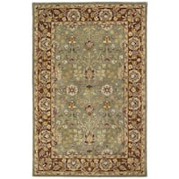 Anabelle Olive Greenl Hand-tufted Wool Area Rug (5' x 7'9) - 5' x 7'9