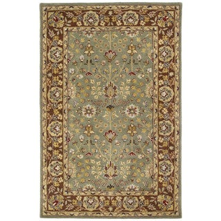 Anabelle Hand-tufted Olive Green Wool Rug (2' x 3')