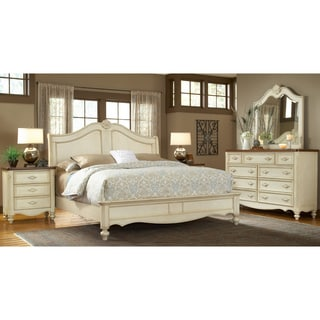 Greyson Living Crescent Manor Antique White Sleigh Bed