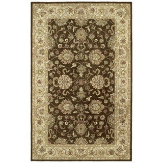 Anabelle Hand-tufted Chocolate Brown Wool Rug (5' x 7'9)