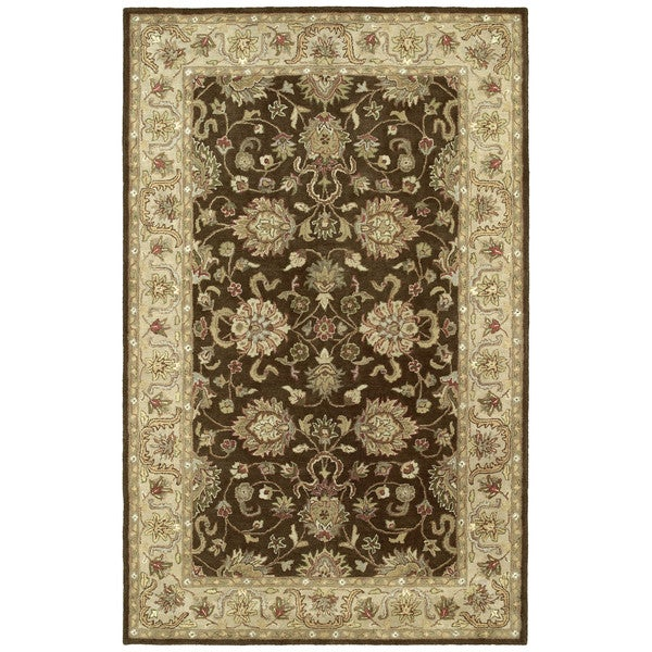 Anabelle Hand-tufted Chocolate Brown Wool Rug (10' x 14')