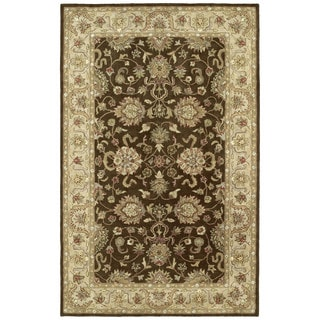 Anabelle Hand-tufted Chocolate Brown Wool Rug (9' x 12')