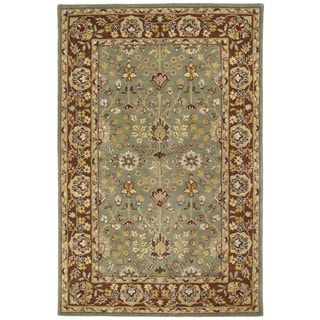 Anabelle Hand-tufted Olive Green Wool Rug (4' x 6')