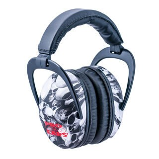 Pro Ears NRR 26 Ultra Sleek Hearing Protection Skulls Ear Muffs