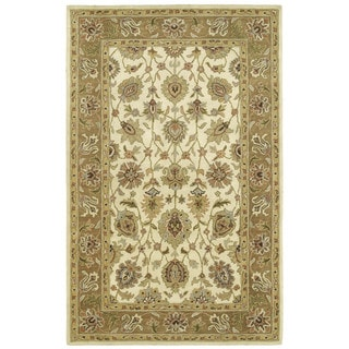 Hand-tufted Anabelle Ivory Wool Rug (5' x 7'9)