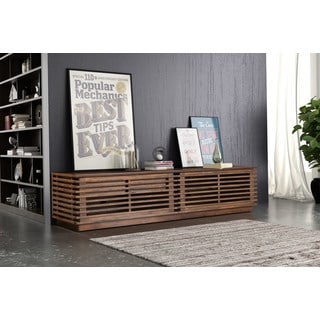 Walnut Color Long Console Table