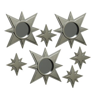 Elements Gold Star Wall Mirrors and Plaques (Set of 7)