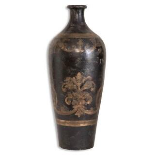 Uttermost Mela Hand-painted 24-inch Terracotta Vase