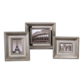 Uttermost Hasana Antique Silver Photo Frames (Set of 3)