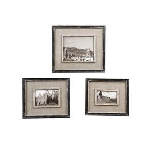 Uttermost Kalidas Distressed Black Photo Frames (Set of 3)
