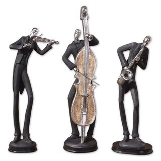Uttermost Slate Grey Musician Sculptures (Set of 3)