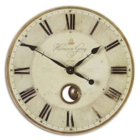 Uttermost 'Harrison' Grey 23-inch Wall Clock
