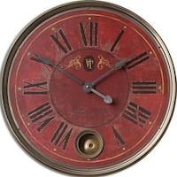 Uttermost Regency 'Villa Tesio' Distressed Red Wall Clock