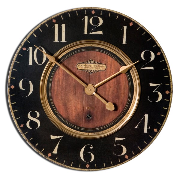 Uttermost 39Alexandre Martinot39 30 inch Round Wall Clock