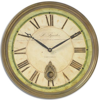 Uttermost Regency 'B. Rossiter' Weathered Wall Clock