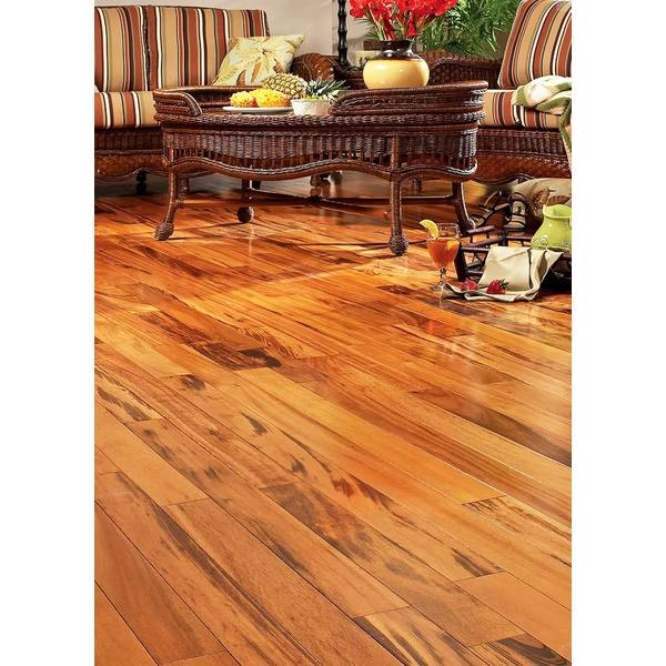 Exotic Brazilian Tigerwood Engineered Hardwood Flooring