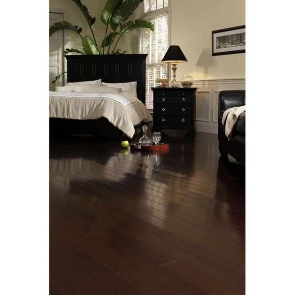 Exotic Brazilian Cherry 21.57 Sq. Ft. Engineered Hardwood Flooring