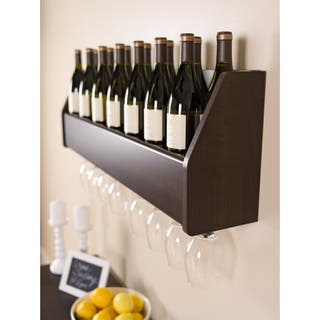 Espresso-finished Floating Wine Rack|https://ak1.ostkcdn.com/images/products/8531718/P15813249.jpg?impolicy=medium