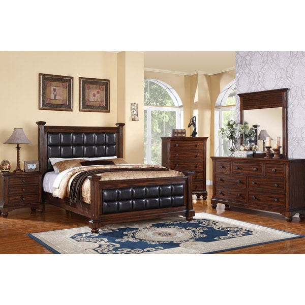 Log Cabin Honey Oak Finish 5-piece Bedroom Set