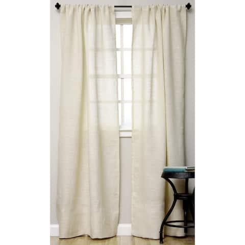Open Weave Burlap Unlined Curtain Panel