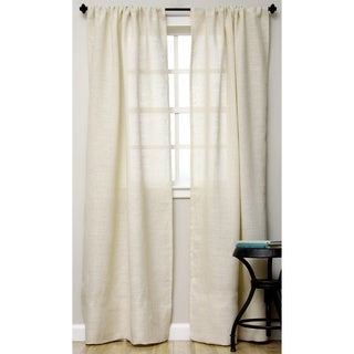 Open Weave Burlap Unlined Curtain Panel