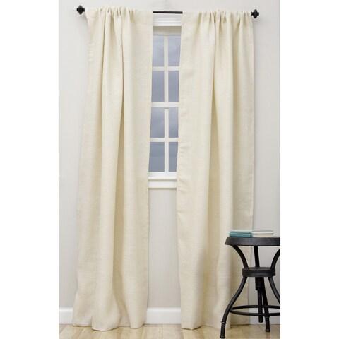 Open Weave Lined Burlap Curtain Panel