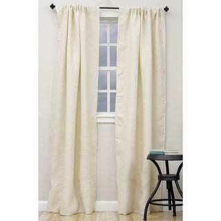 Open Weave Lined Burlap Curtain Panel