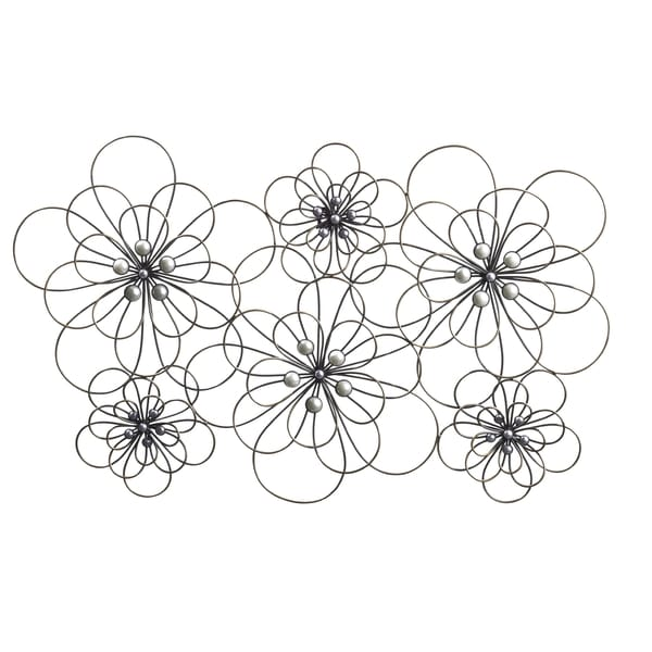 Elements 29 X 18 5 Inch Wire Flowers Metal Wall Decor
