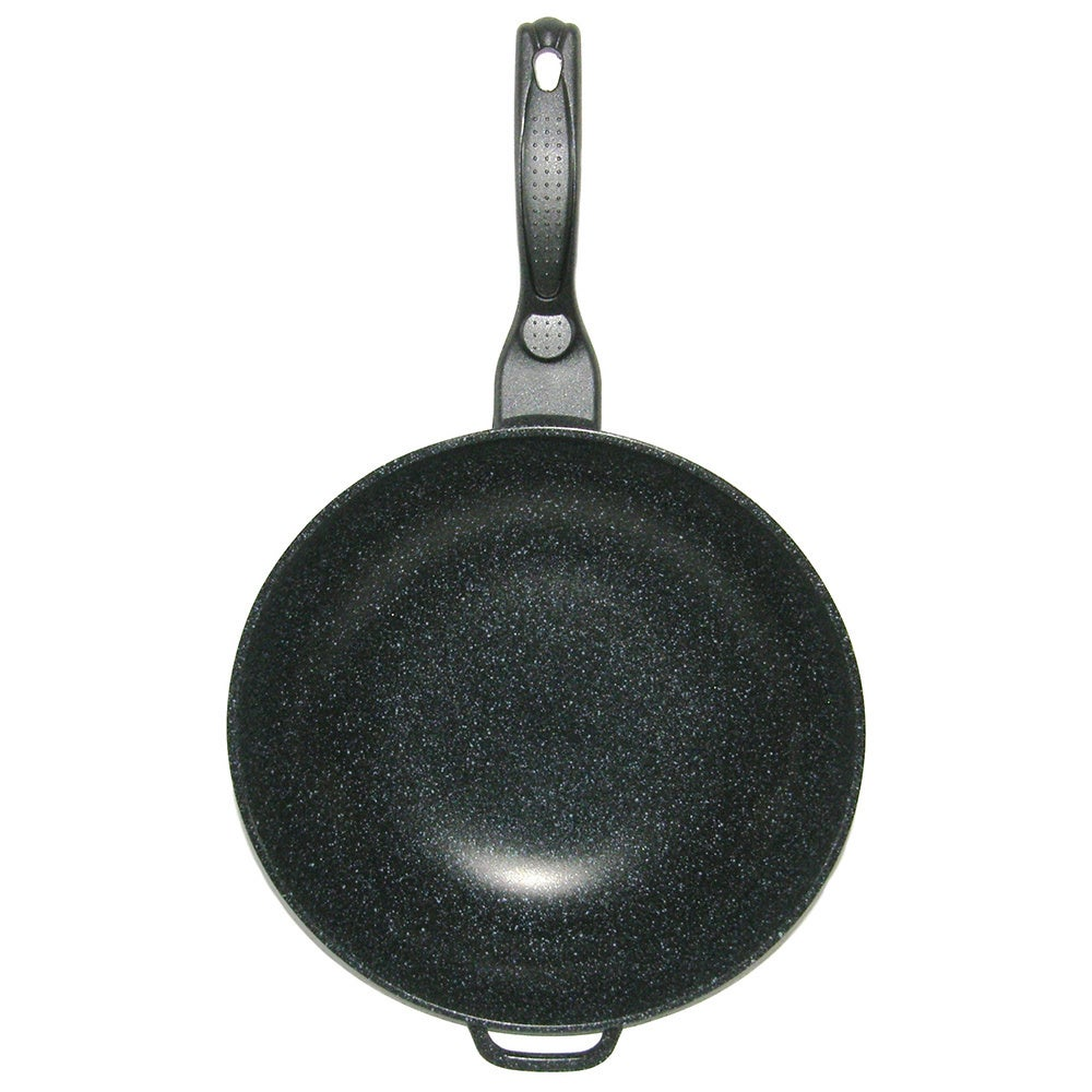 Mega Cook 12-inch Non-stick Stone Marble Forged Aluminum ...