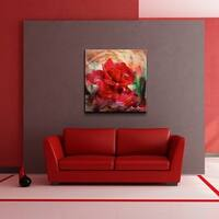 Ready2HangArt 'Rose in Bloom' Oversized Canvas Wall Art