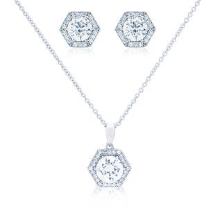 Blue Box Jewels Hexagon Shape Necklace and Earring Set https://ak1.ostkcdn.com/images/products/8533325/Blue-Box-Jewels-Hexagon-Shape-Necklace-and-Earring-Set-P15814556.jpg?impolicy=medium