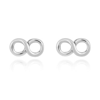 Endless Wave Infinity Symbol .925 Silver Stud Earrings (Thailand)