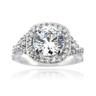 Link to Icz Stonez Sterling Silver Cubic Zirconia Bridal-style Ring Similar Items in Rings