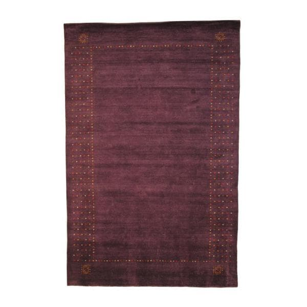 Herat Oriental Indo Hand-knotted Gabbeh Wool Rug (6' x 9') - 6' x 9'