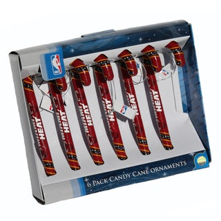 Forever Collectibles Miami Heat NBA Candy Cane Ornament Set