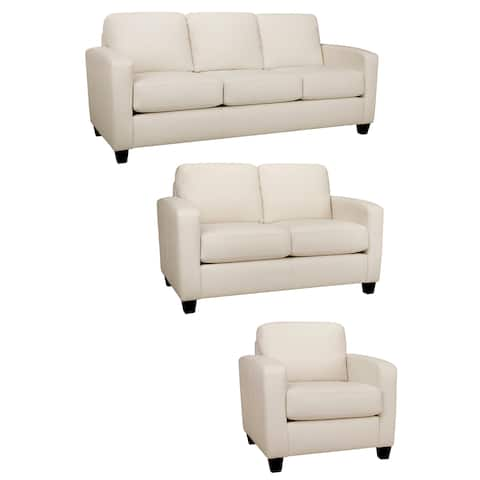 Bryce Italian Top Grain Leather Sofa, Loveseat and Chair