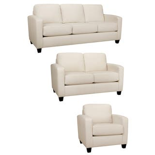 Bryce White Italian Leather Sofa, Loveseat and Chair|https://ak1.ostkcdn.com/images/products/8533437/Bryce-White-Italian-Leather-Sofa-Loveseat-and-Chair-P15814567.jpg?impolicy=medium