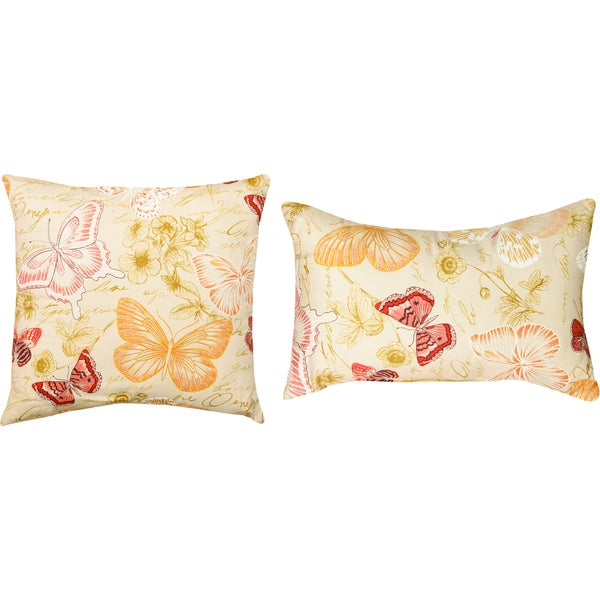 Papillion Decorative Pillows (Set of 2)