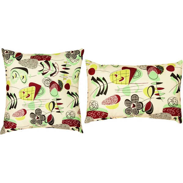 Manual Woodworkers Doo Wop Decorative Pillows (Set of 2)