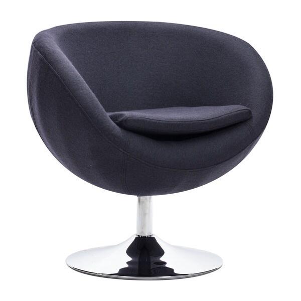 Lund Iron Grey Arm Chair Lund Modern Bucket-Seat Carnelian Red Arm Chair