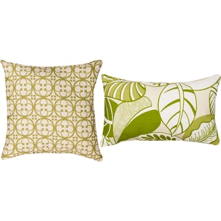 Terre/ Tuscan Leaf Decorative Pillows (Set of 2)