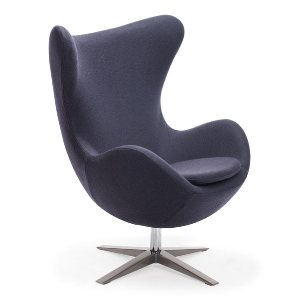 Shop Skien Modern Tall Back Rest Iron Grey Arm Chair ...