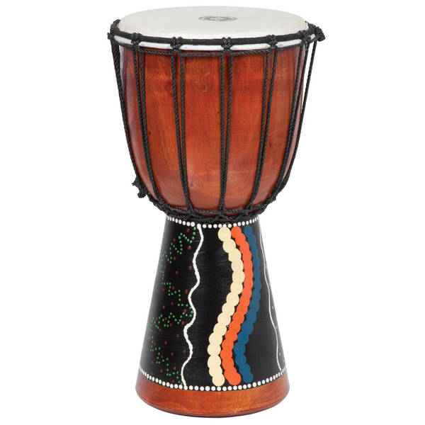 Tribal Painted Djembe Drum (Indonesia)