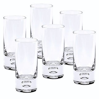 Galaxy Mouth Blown Lead Free Crystal 2.5 oz. Shot Glasses (Set of 6)