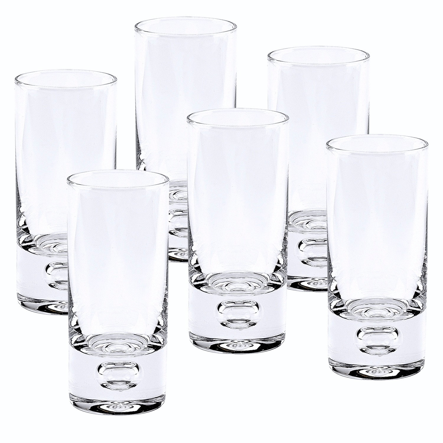 Galaxy Mouth Blown Lead Free Crystal 2 5 Oz Shot Glasses Set Of 6 Overstock 8533529