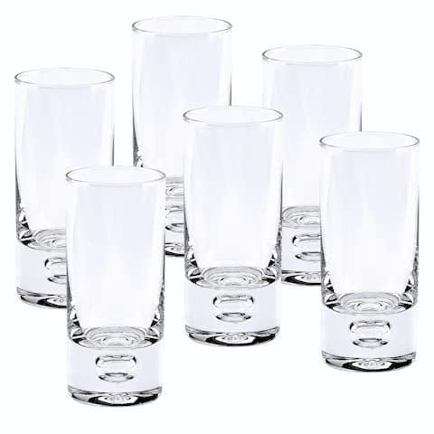 Galaxy Mouth Blown Lead Free Crystal 2.5 oz. Shot Glasses (Set of 6)