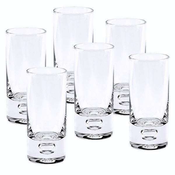 Galaxy Mouth Blown Lead Free Crystal 2.5 oz. Shot Glasses (Set of 6). Opens flyout.
