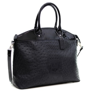 Dasein Ostrich and Croco Fusion Large Satchel